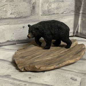 Black Bear Figurine Dish Resin FLAW